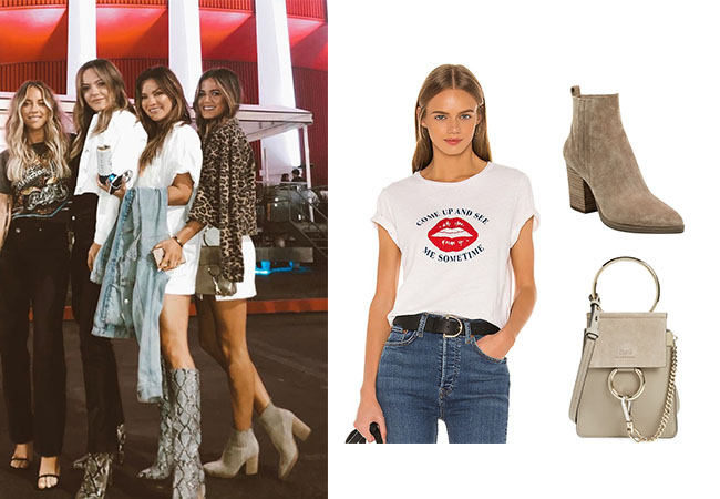 JoJo Fletcher, The Bachelorette, The Bachelor, #instafashion, Chloe Bag Faye Small, Re/done graphic tee, Marc Fisher Alva Bootie, Bachelor Nation, Bachelor Outfits