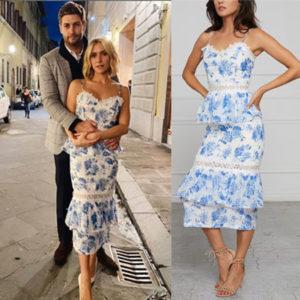 Kristin Cavallari, Very Cavallari, Jay Cutler, V. Chapman Daffodil Dress, Kristin Cavallari's Blue floral dress on very cavallari, The Hills