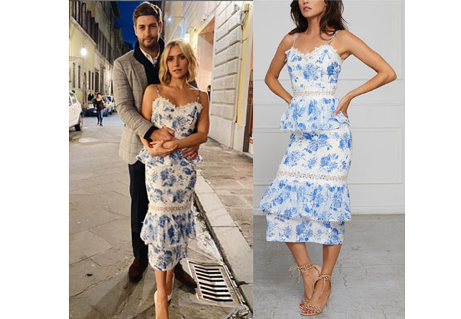 Kristin Cavallari, Very Cavallari, Jay Cutler, V. Chapman Daffodil Dress, Kristin Cavallari's Blue floral dress on very cavallari, The Hills