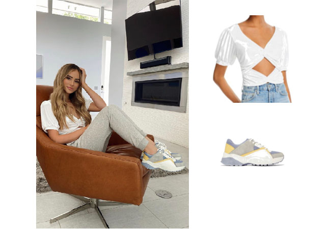 Amanda Stanton, The Bachelor, Bachelor Nation, Lani The Label Twisted Cutout Top, JustFab Thea Sneakers, Amanda Stanton's outfit on instagram