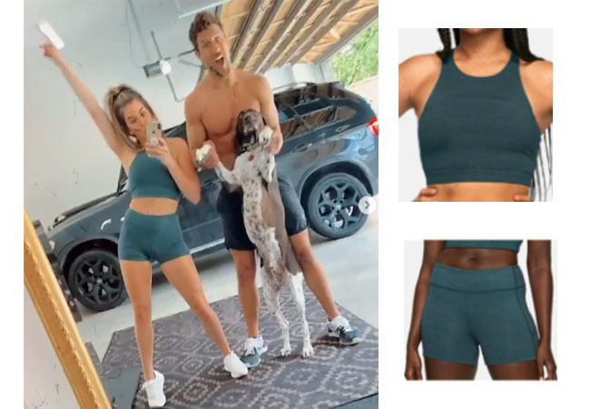 JoJo Fletcher, The Bachelor, The Bachelorette, Outdoor Voices Tech Sweat Top, Outdoor Voices Tech Sweat Shorts, @joellefletcher