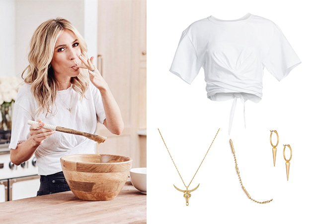 Kristin Cavallari, Very Cavallari, Jay Cutler, Kristin Cavallari and Jay Cutler Divorce, Uncommon James, ALC Jules Tee, Uncommon James Sharp Shooter Earrings, Uncommon James Fighter Necklace, Uncommon James Ready To Mingle Necklace