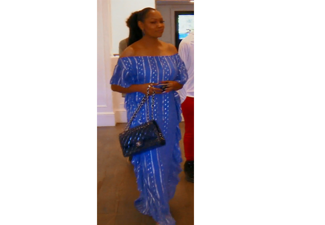 Garcelle Beauvais; Real Housewives of Beverly Hills; RHOBH; Garcelle's Blue Dress; Saylor Avril Dress