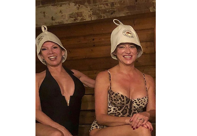 Dorinda Medley; Real Housewives of New York; RHONY; Dorinda's Leopard Swimsuit at the spa; Dolce and Gabbana Leopard One Piece Swimsuit