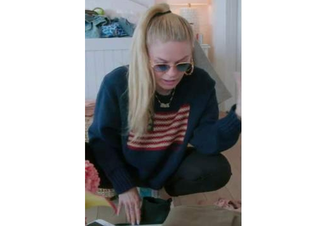 Leah McSweeny; Real Housewives of New York; RHONY; Leah's American Flag Sweater; Leah's Pink Sunglasses; Ralph Lauren Flag Sweater; Vintage Frames Gold Plated Sunglasses