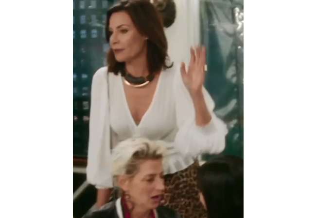 LuAnn de Lesseps; Real Housewives of New York; LuAnn's White Blouse; Windsor Smocked Blouse