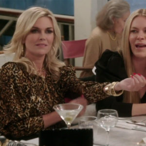 Tinsley Mortimer, Real Housewives of New York, RHONY, Tinsley's leopard blouse, Tinsley's leopard top, Ronny Kobo Leopard Top