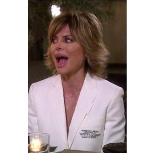 Lisa Rinna; Real Housewives of Beverly Hills; RHOBH; Lisa's White Blazer; Burberry Location Print Blazer